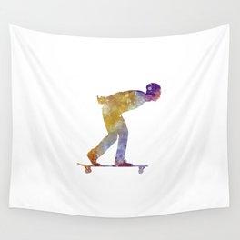 Man skateboard 03 in watercolor Wall Tapestry