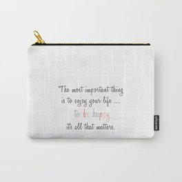 Inspiration Typography Quote Words Pastel Carry-All Pouch