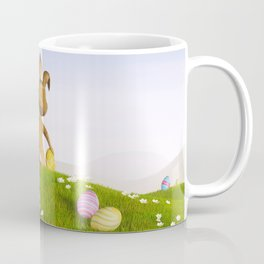 III - Easter bunny with a basket and Easter eggs Coffee Mug