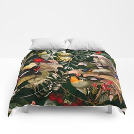 Floral and Birds XXV Comforters