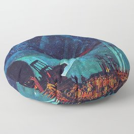 Planet Observatory, Planetarium, Power of the People, Stars & Constellations by Konstantin Yuon Floor Pillow