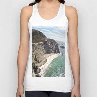big sur Tank Tops featuring Big Sur Bridge by The Aerial Photography Shop