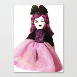 Pretty in Purple Doll Canvas Print