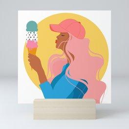 In Love with Ice Cream Mini Art Print
