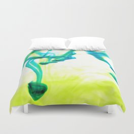 Ink Abstract Yellow Green Duvet Cover