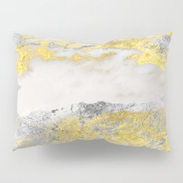 Silver and Gold Marble Design Pillow Sham