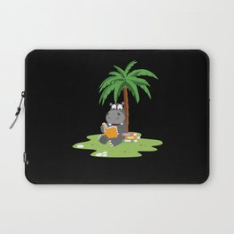 Cartoon Children Hippopotamus Book Hippo Motif Laptop Sleeve
