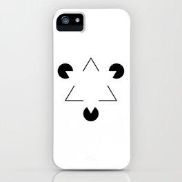 Kanizsa triangle iPhone Case