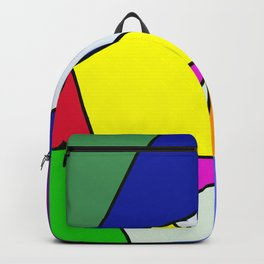 Colorful Line Pattern Backpack