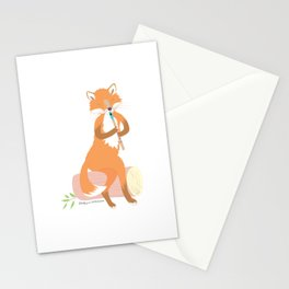 Tin Whistle Fox Stationery Cards