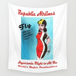 Barbara of Republic Airlines Wall Tapestry