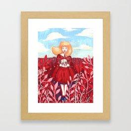 red field Framed Art Print