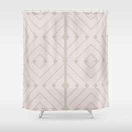 MONO:CHROMA Geometrica Earthy Pink II Shower Curtain