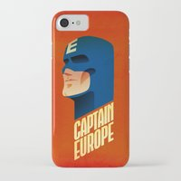 europe iPhone & iPod Cases featuring Captain Europe by Robert Farkas