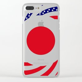 Japanese American Multinational Patriot Flag Series Clear iPhone Case