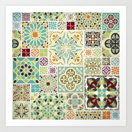 Moroccan Tile Pattern II Art Print