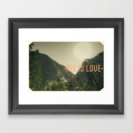 All is Love Framed Art Print