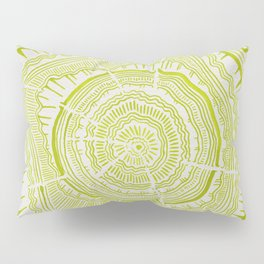 Lime Tree Rings Pillow Sham