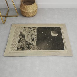 The Earth As If Seen From The Moon (1912) Rug