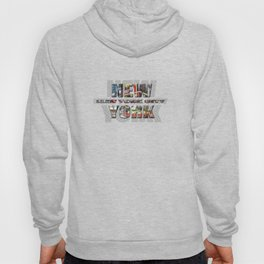 New York - New York City (color type on mono type) Hoody