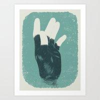 The Beast and Dragon, Adored Art Print