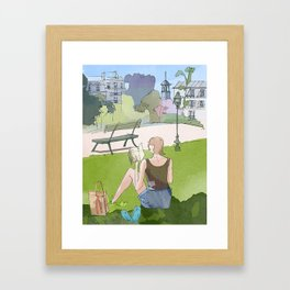 Just a little time to read Framed Art Print