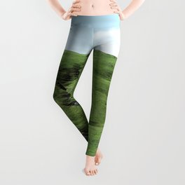 Green Rolling Hills of Central California 2 Leggings