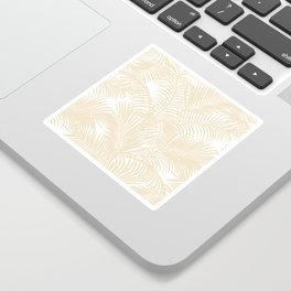 Modern tropical elegant ivory palm tree pattern Sticker