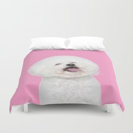 Laughing Puppy Duvet Cover