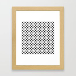Small Black Crosses on White Framed Art Print