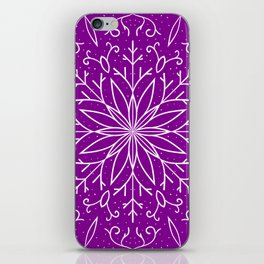 Single Snowflake - Purple iPhone Skin