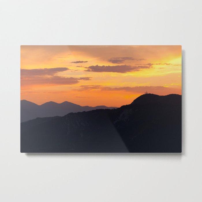 Mountain Sunset III (Big Bear Lake, California) Metal Print