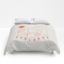 Heritage Buffalo Red Comforters