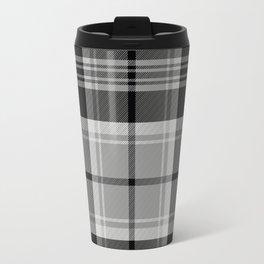 Black & White Tartan (var. 2) Travel Mug