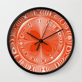 Terracotta Tile Wall Clock
