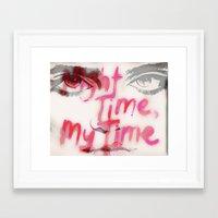 sky ferreira Framed Art Prints featuring Sky Ferreira by Tara Kostick