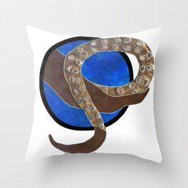 Creature of Water (porthole edit) Throw Pillow