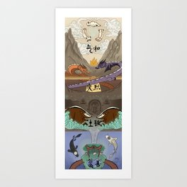 Avatar : The Last Airbender Four Nations Art Print
