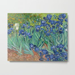 Irises by Vincent Van Gogh, 1889 Metal Print