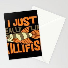 I JUST REALLY LIKE Killifish I Funny Aquaristic graphic Stationery Cards