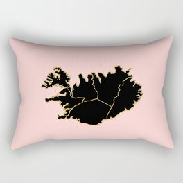 Iceland map Rectangular Pillow