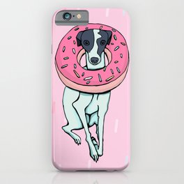 Iggy with a Doughnut - Italian Greyhound - Sweet - Sprinkles iPhone Case