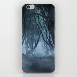 Very cold foggy morning at Dark Hedges iPhone Skin