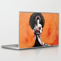 geisha Laptop & iPad Skins featuring Geisha by edwinvdbogert