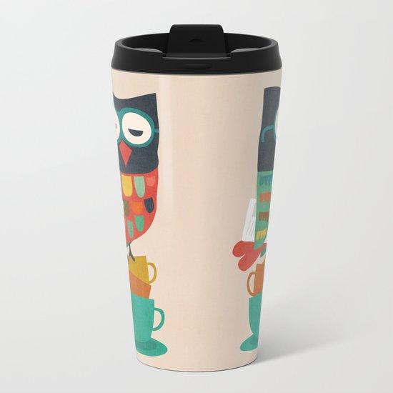 Morning Owl Metal Travel Mug