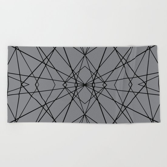 Snow Flake Beach Towel