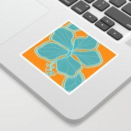 Kailua Hibiscus Hawaiian Engineered Floral Sticker