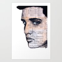 elvis Art Prints featuring Elvis by Krzyzanowski Art