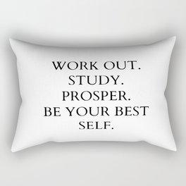 Work out. study. prosper Rectangular Pillow