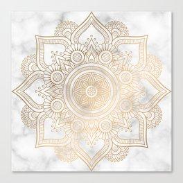 Marble Gold Mandala Design Canvas Print